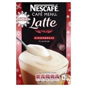 Nescafe Cafe Menu Latte Gingerbread 8 sachets £ 1.00 at Asda