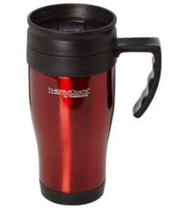Thermos Thermocafe Stainless Steel Travel Mug - Red £2.80(with code) @ ASDA