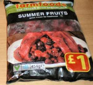 Summer fruits (Berries) 454gr £1.00 from Farmfoods