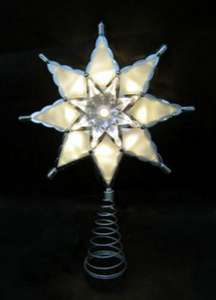 Silver Star Light Up Tree Topper HOMEBASE @ bellow half price of £6.99