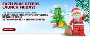 LEGO Black Friday/Cyber Monday Sale - 29th November till 2nd December @ LEGO Store online