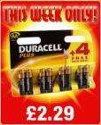 duracell AA batteries buy 4 get 4 free - £2.29 in-store @ Semi Chem