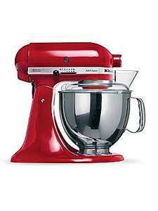 Kitchenaid Artisan Empire Red Mixer 5KSM150PSBGR £340.54 + Free Ice Cream Maker@ House of Fraser
