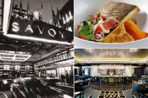 The Savoy Kaspars seafood Bar and Grill 3 course with a glass of Champagne £37 each @ Bookatable