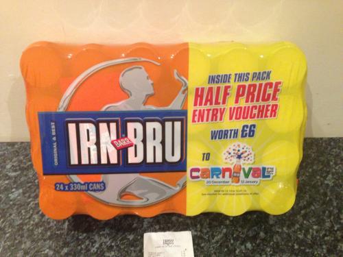 Barr Irn Bru 24 x 330ml Cans £5 (21p* a Can!) @ Tesco