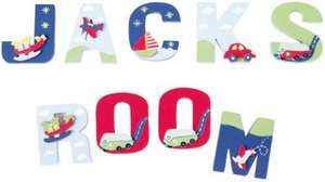 Children's Wooden Painted 3D Letters (A-Z) now 85p @ JoJo Maman Bebe and Free Delivery