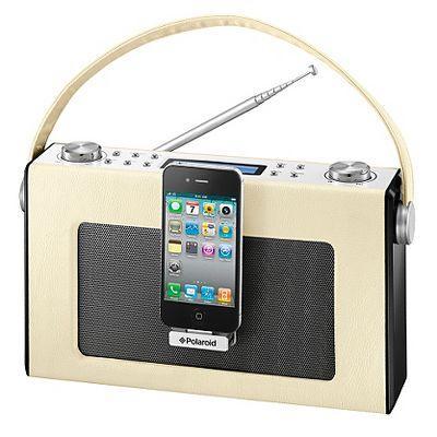 Polaroid Retro Digital Radio with iPhone and iPod Dock | Docking Station £45 @ ASDA direct