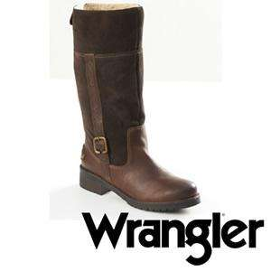 Ladies Wrangler leather boots scanning £45 @ The Original Factory Shop