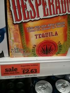 Desperados 3x330ml tequila beer - £2.63 @ Sainsburys