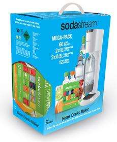 50% off ALL SodaStream Machines + 25% code stack! Eg White Genesis Megapack now £29.48!