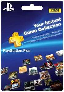 PLAYSTATION PLUS 1 YEAR MEMBERSHIP, PSV, PS3, PS4 - £33.99 @ Electronic First