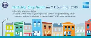 American Express Shop Small - spend £10 get £5 back at participating shops
