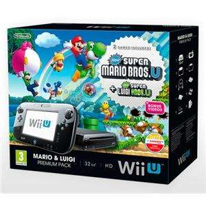 Nintendo Wii U 32gb Premium Bundle Including New Super Mario Bros U + New Super Luigi U £199.99 @ Shopto via play