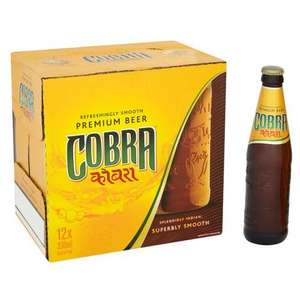 Cobra Beer 3 x 12 bottles (330ml) for £21 @ Tesco instore and online (58p a bottle)