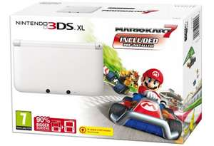 Nintendo 3DS XL White (With Mario Kart 7) £129.99 @ Amazon (Super Mario 3D land bundle goes live at 18.15 [likely to be the same price])