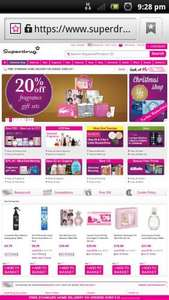 Superdrug 20% off fragrance gift sets