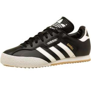 Adidas Originals Mens Samba Super Trainers Black/White/Gum RRP £54.99  Price £34.99 @ MandM Direct