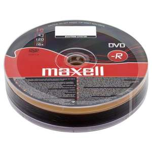Maxell DVD-R 4.7Gb 10 pack £1.75 @ Wilkinsons + Free delivery on Monday