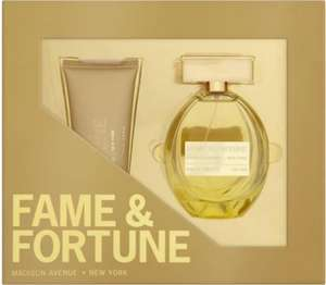 Fame & Fortune for Her 100 ml Eau de Toilette Gift Set Price: Was £15.00 Now £7.50 @ Asda