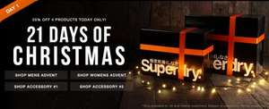 Superdry Christmas Advent Calendar of 20% off each day!!