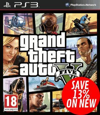 Grand Theft Auto V (GTA V) PS3  Xbox 360 £27.99 2pm onwards @ Game.co.uk (7% Topcashback)