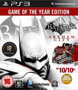 Batman: Arkham City: Game of the Year Edition GOTY PS3 & Xbox @ Zavvi £9.48 (with code MMX10)
