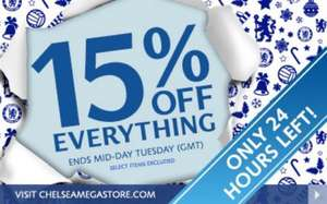 Chelsea fc megastore sale 15% off everything