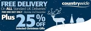 Countrywide 25% Off + Free Delivery Christmas Gifts