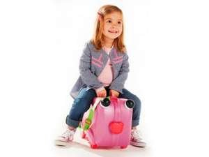 Trunki style - TOPMOVE Kids' Ride On Suitcase Pink/Blue £14.99 @ LIDL