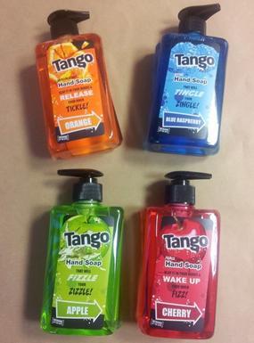 Tango Handwash Orange, Apple, Blue Raspberry, Cherry £1 @ Poundland
