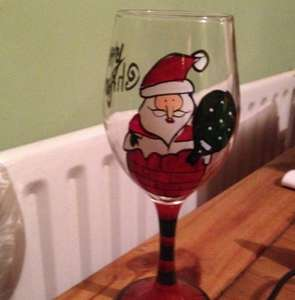 £1 Christmas wine glasses @ poundworld