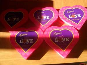 Cadbury's Factory Outlet INSTORE Only Cadbury With Love Chocolates 180g 1.99 Each or 5 for 5.00 Pounds