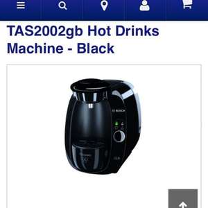 BOSCH Tassimo Amia TAS2002gb coffee machine £39 @ currys, online