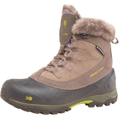 Karrimor Womens Snowfur II Weathertite Snow Boots Brown RRP £89.99  Price £34.99 @ MandM Direct