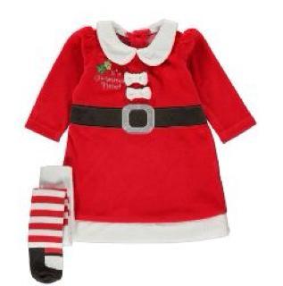 Baby Mrs Santa Dress & Tights £6 del. to store @ George Asda