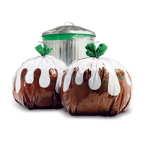 8 Xmas Pudding Bin Bags £1 @ Poundland