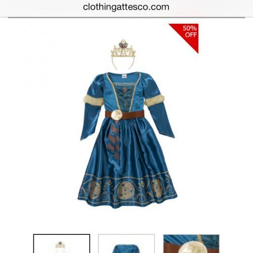 Disneys brave Merida fancy dress half price £6! @tesco