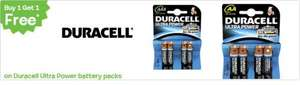 BOGOF (Buy One Get One Free) on Duracell Ultra Batteries @ Toys R Us - £3.49