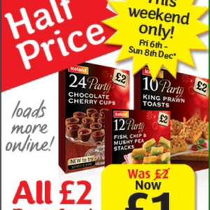 All £2 Party Food now £1 - Iceland
