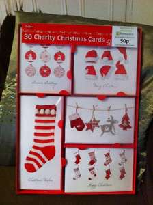 30 assorted glittery Christmas cards for £1.19 at Aldi