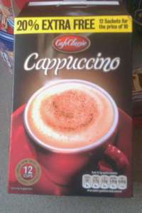 Cafe Classic Cappuccino Box of 12 sachets 79p @ Quality Save