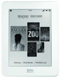 Kobo Mini White eReader Touchscreen!! with wifi 29.99... Much cheaper than a Kindle! (was 59.99!)  @ WH Smith