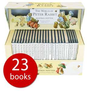 The World of Peter Rabbit hardback collection, 23 books! Beatrix Potter just £18 delivered with codes @ The Book People