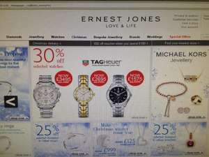 30% Off Selected TAG Heuer Watches!!! @ Ernest Jones