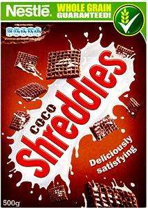 Nestle Coco Shreddies (500g) was £2.49 now £1.24 @ Tesco