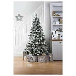back in stock!!! 6ft Alaskan Flocked Christmas Tree £17.50 @ tesco