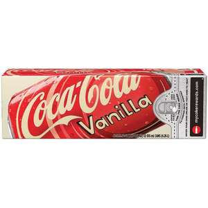 US Vanilla Coca Cola (imported) pack of 12 cans (355ml) EXPIRED 2/12/13 £5.49+ £4.50 UK Mainland per order @ www.americansweets.co.uk