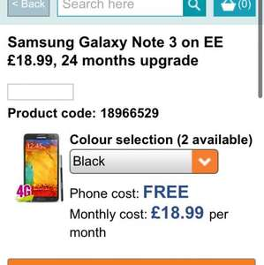 Samsung galaxy note 3 £455.76 @ Carphone Warehouse