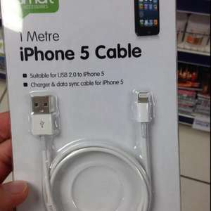 USB charger cable for Apple iPhone 5/5s. £1 @ Poundworld