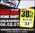 New Home England Top- 30% off RRP- Only £31.49